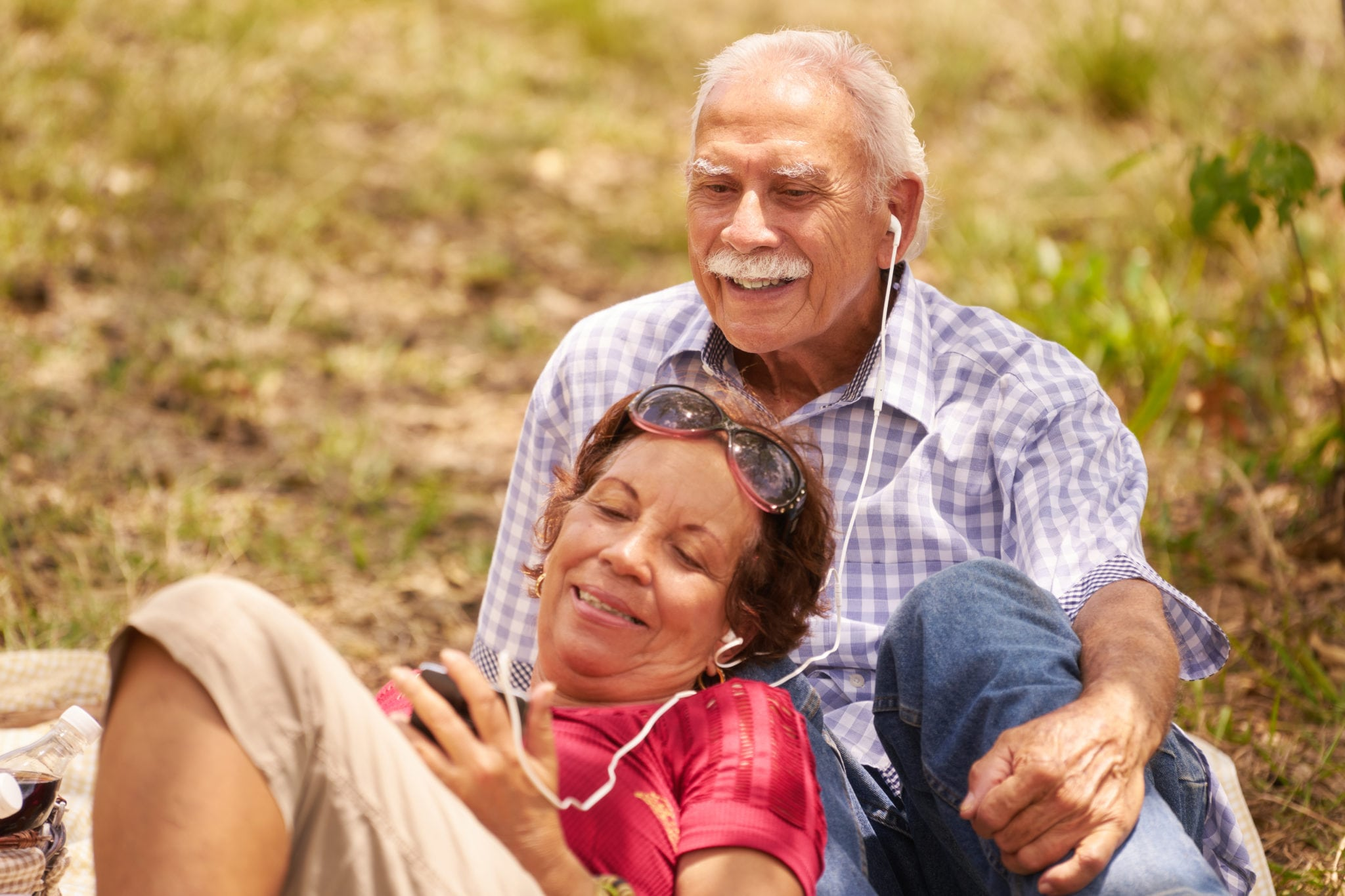 Husband And Wife Senior Man Woman Listening Music | North Houston Hearing Solutions